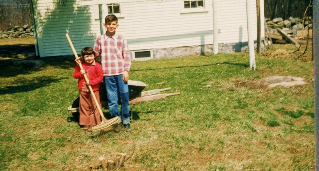 My brother Allen and me, several years ago: Rye, New Hampshire