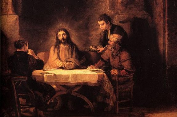 THE ROAD TO EMMAUS, REMBRANDT