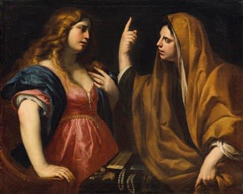 MARTHA AND MARY, ANDREA VACCARO, c. 1670