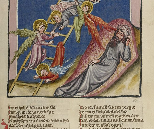 Jacob's Dream, from World Chronicle, about 1400 - 1410, Regensburg, unknown. The J. Paul Getty Museum