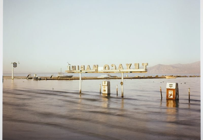 Flooded Marina (Gas Pumps), Salton Sea, California RICHARD MISRACH, 1983© RICHARD MISRACH